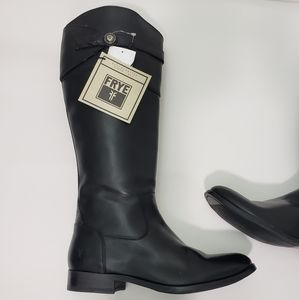 Frye black Genuine Leather tall boots NWT  8.5